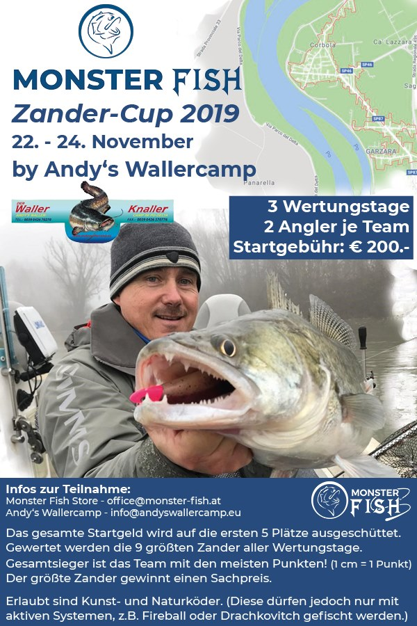 Monster Fish Zander Cup im Andy's Wallercamp